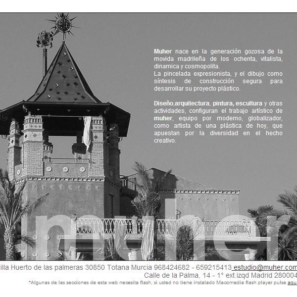 Estudio muher pintura arquitectura web empresarial for Estudio arquitectura murcia