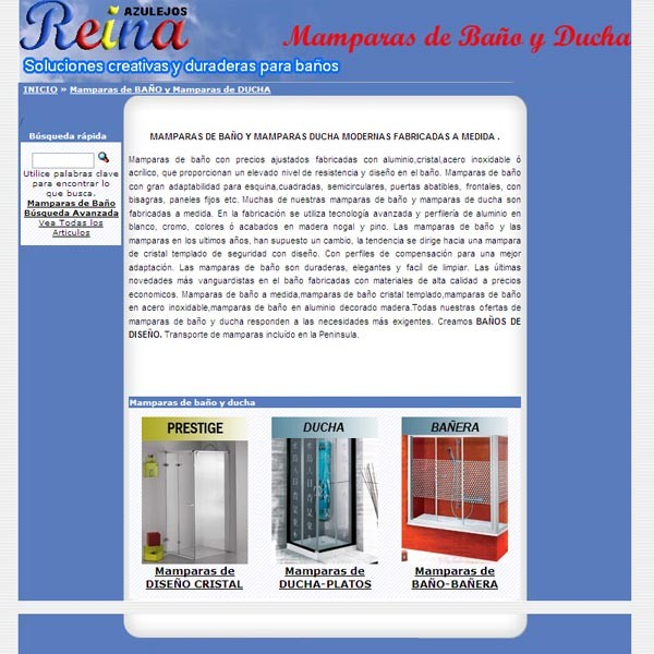 Mamparas De Ba O Reina Web Empresarial Ii Premios Web
