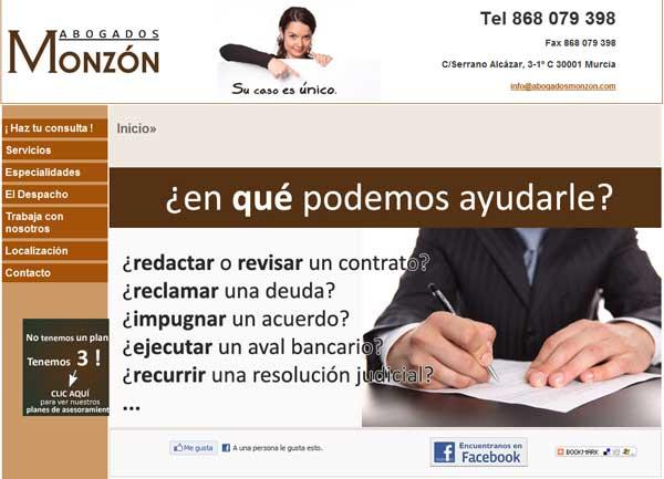 Abogados Monzon Web Ocio Servicios Iii Premios Web
