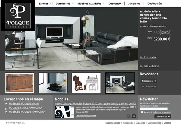 Muebles polque web empresarial iii premios web de for Web de muebles