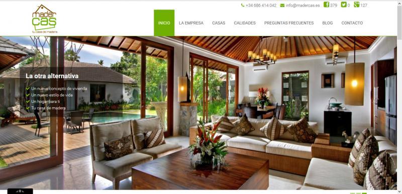 Casas De Madera Madercas Web Empresarial Viii Premios Web De